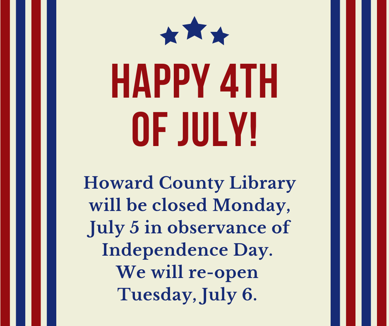 Library Closed July 5 for Independence Day