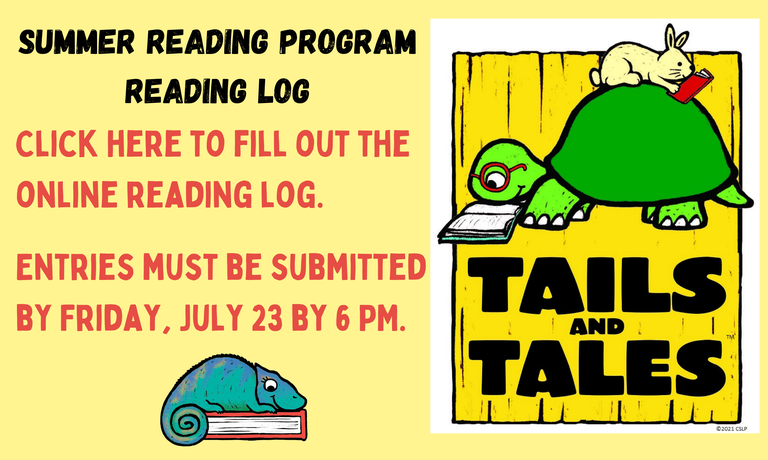 Fill out an online reading log.