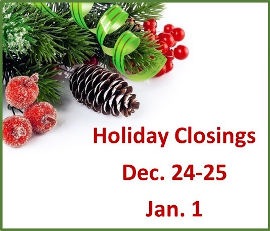 holiday hours graphic